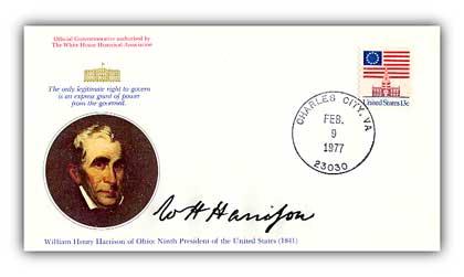 1977 William Harrison Commemorative Cover
