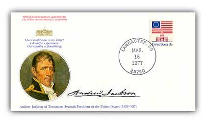 1977 Andrew Jackson Commemorative Cover