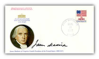 1977 James Madison Commemorative Cover