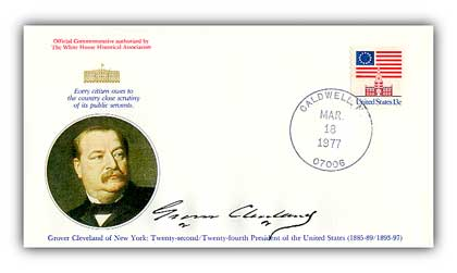 Commemorative cover marking Cleveland's 140th birthday