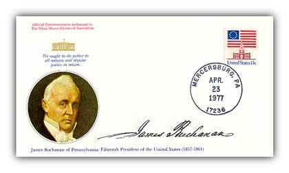 1977 James Buchanan Commemorative Cover