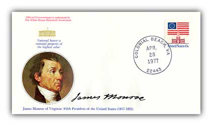 1977 James Monroe Commemorative Cover