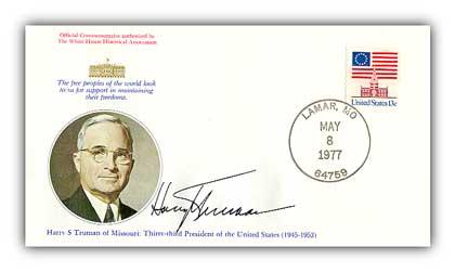 1977 Harry S. Truman Commemorative Cover