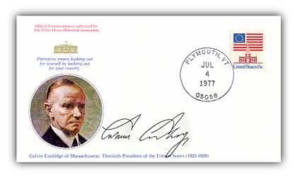 1977 Calvin Coolidge Commemorative Cover