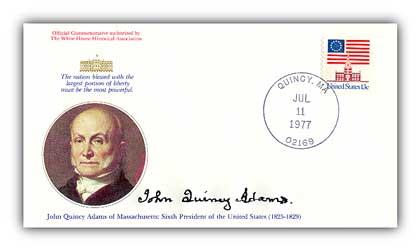 1977 John Quincy Adams Commemorative Cover
