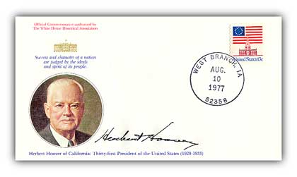 1977 Herbert Hoover Commemorative Cover