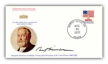 1977 Benjamin Harrison Commemorative Cover