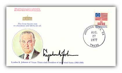 1977 Lyndon B Johnson Commemorative Cover