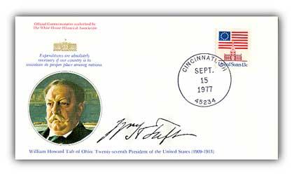 1977 WIlliam H Taft Commemorative Cover