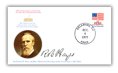1977 Rutherford B Hayes Commemorative Cover