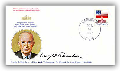 1977 Dwight Eisenhower Commemorative Cover