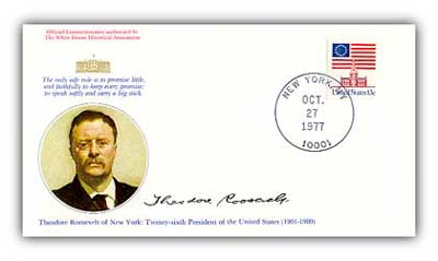 1977 Theodore Roosevelt Commemorative Cover