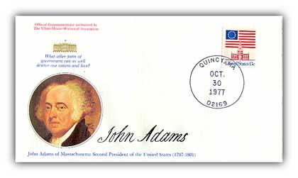 1977 John Adams Commemorative Cover