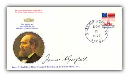 1977 James Garfield Commemorative Cover