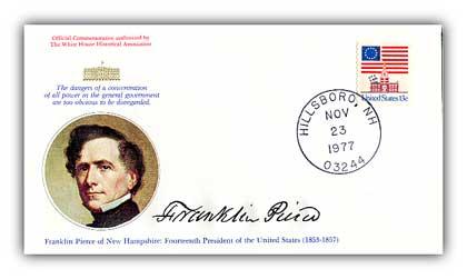 1977 Franklin Pierce Commemorative Cover