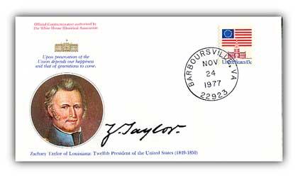 1977 Zachary Taylor Commemorative Cover