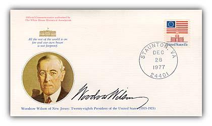1977 Woodrow Wilson Commemorative Cover