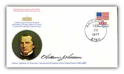 1977 Andrew Johnson Commemorative Cover