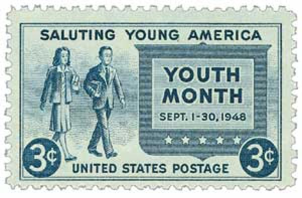 1948 3c Salute to Youth
