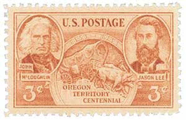 1948 3c Oregon Territory Centennial