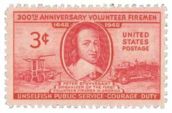 1948 3c Volunteer Firemen 300th Anniversary