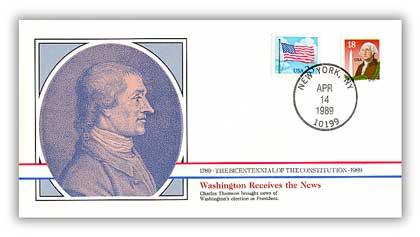 1989 Washington Informed of his Election