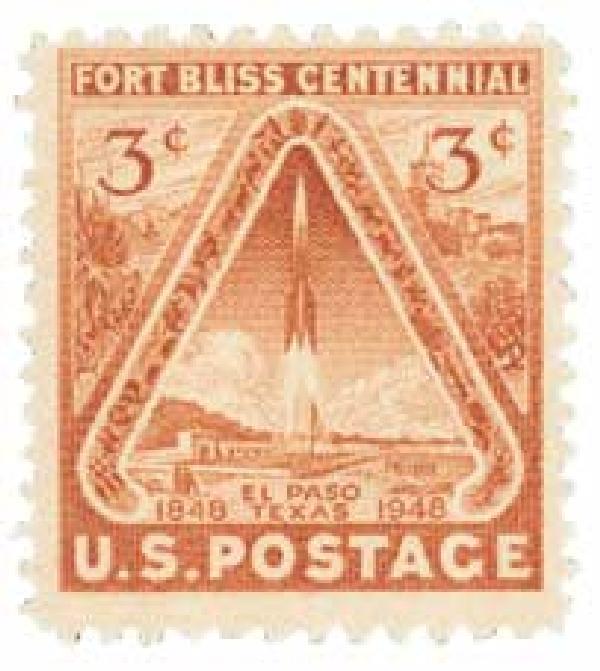 1948 3c Fort Bliss Centennial
