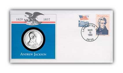 1993 Andrew Jackson Platinum Plated Medal Cvr