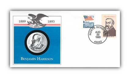 1993 Benjamin Harrison Platinum Plated PNC