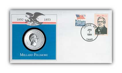 1993 Millard Fillmore Platinum Plated PNC
