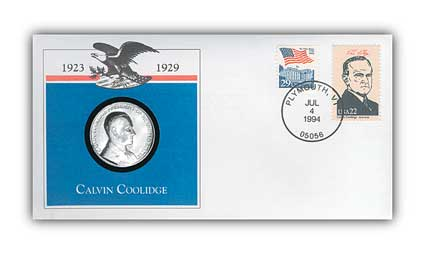 1993 Calvin Coolidge Platinum Plated PNC