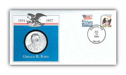 1993 Gerald Ford Platinum Plated Medal Cover