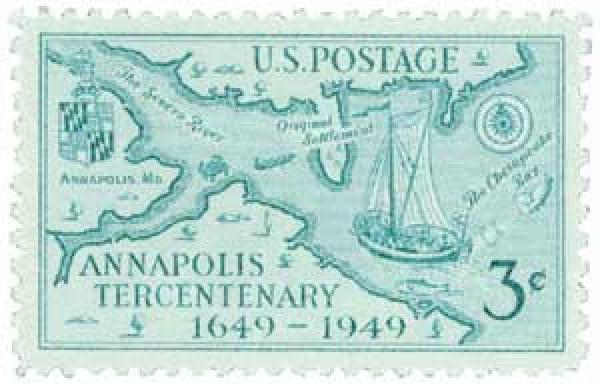 1949 3c Annapolis Tercentenary