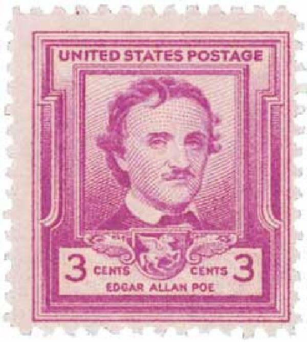 1949 3c Edgar Allan Poe