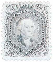 1867 24c Washington, gray lilac