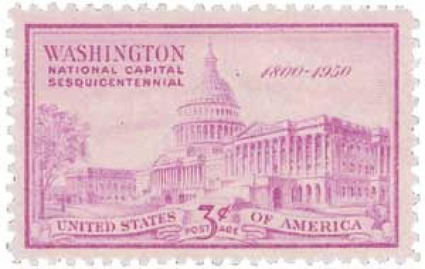 1950 3c U.S. Capitol Building