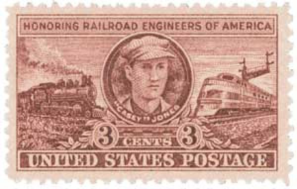 U.S. #993 was issued to honor the role of railroad engineers in building America.