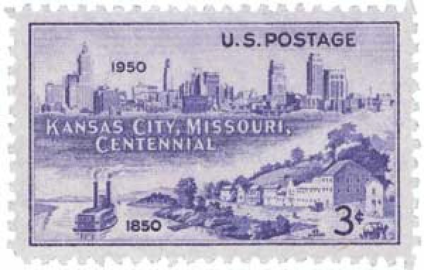 1950 3c Kansas City, Missouri Centenary