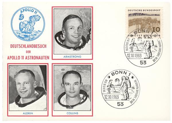 Apollo 11 Crew Visit to Bonn, Germany on October 12, 1969