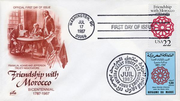 1987 Joint Issue - US and Morocco - Treaty of Friendship Bicentennial