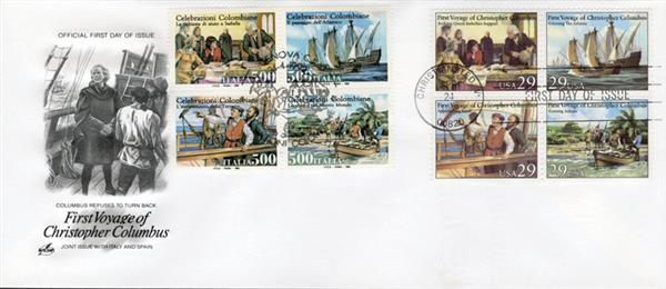 1992 Joint Issue - US and Italy - First Voyage of Columbus