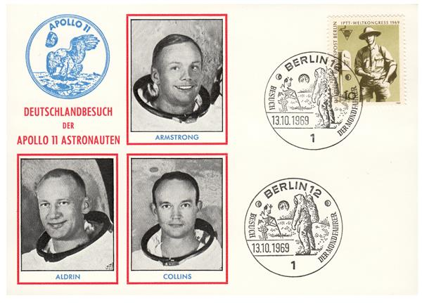 Apollo 11 Crew Visit to Berlin, Germany on October 13, 1969