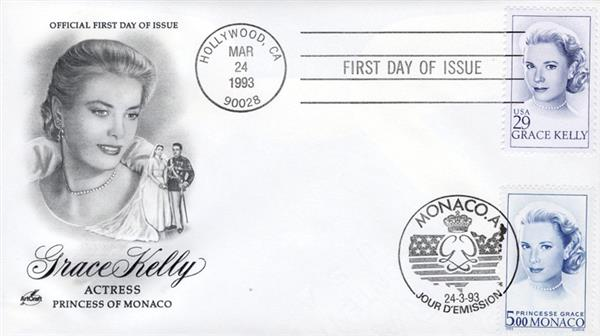 1993 - Joint Issue - US and Monaco - Grace Kelly