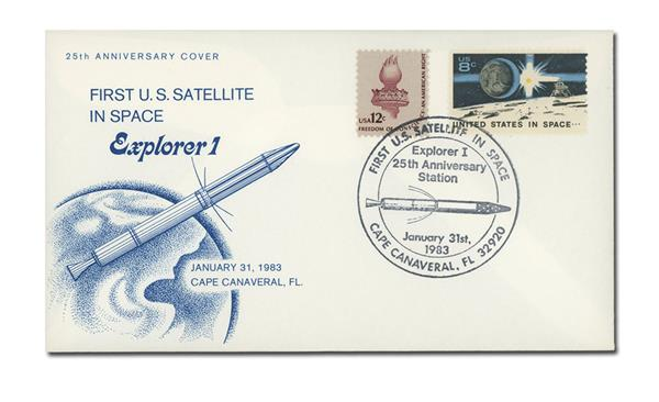 01/31/1983 USA, First U.S. Satellite in Space Explorer 1 25th Anniversary Cover