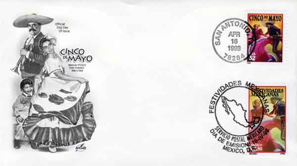 1998 Joint Issue - US and Mexico - Cinco de Mayo