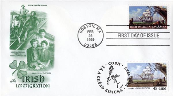 1999 Joint Issue - US and Ireland - Irish Immigration