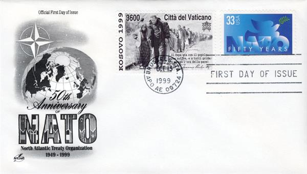 1999 Joint Issue - US and Vatican - 50th Anniversary of NATO