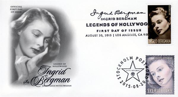 2015 Joint Issue - US and Sweden - Ingrid Bergman
