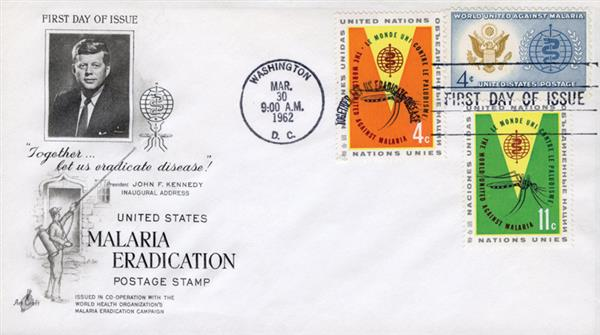 1962 Joint Issue - US and United Nations - Malaria Eradication