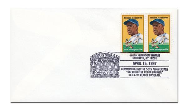 """4/15/1997, USA, Jackie Robinson Station, Commemorating the 50th Ann. """"Breaking the Color Barrier"""" in Major League Baseba"""